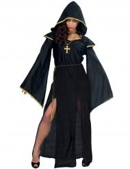 Disfraz sacerdotisa lúgubre negro mujer halloween