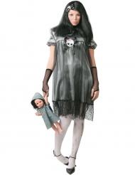 Disfraz pequeña muñeca de la noche mujer Halloween