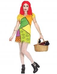 Disfraz muñeca de trapo colores mujer