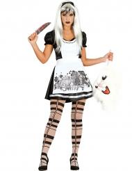 Disfraz princesa de las maravillas gótica mujer