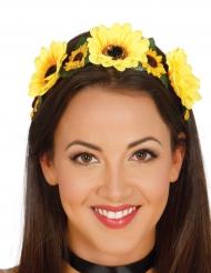Diadema flores amarillas mujer