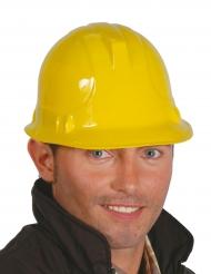 Casco obrero de construcción amarillo adulto