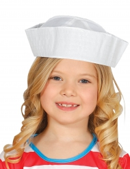 Gorro marinero blanco infantil