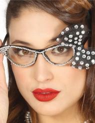 Gafas años 50 con lazo blanco mujer