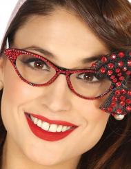 Gafas años 50 con lazo rojo mujer