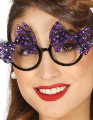 Gafas años 50 con lazo violeta mujer