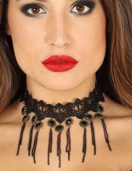 Collar gótico negro sexy mujer