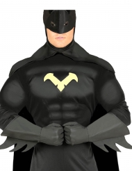 Guantes superhéroe negro adulto