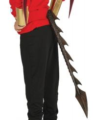 Cola de dragón negro 29 cm
