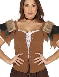 Corsé medieval marrón mujer
