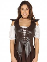 Corsé estilo medieval marrón mujer