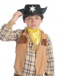Chaleco con flecos marrón niño