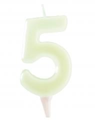 Vela fosforita 6 cm número 5
