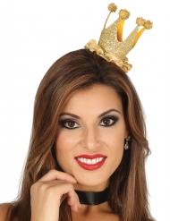 Mini corona reina purpurina mujer