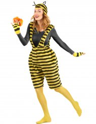 Disfraz mono peluche abeja adulto