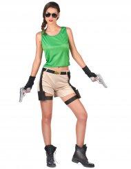 Disfraz arqueólogo aventurera mujer