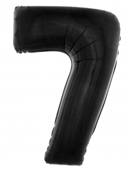 Globo aluminio número 7 negro 40 cm