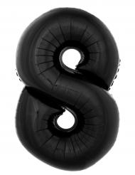 Globo aluminio número 8 negro 40 cm