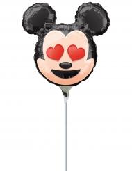 Mini globo aluminio Mickey Mouse™ Emoji™ inflado 22 cm