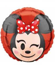 Globo de aluminio Minnie Mouse™ Emoji™ 43 cm
