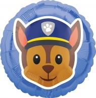 Globo aluminio Chase Paw Patrol™ Emoji™ 43 cm
