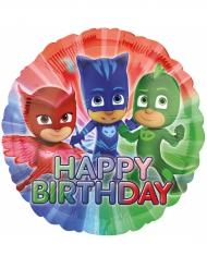 Globo aluminio PJ Masks™ Happy Birthday 43 cm