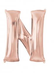 Globo aluminio letra N rose gold 60 x 81 cm