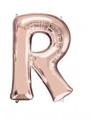 Globo aluminio letra R rose gold 58 x 81 cm