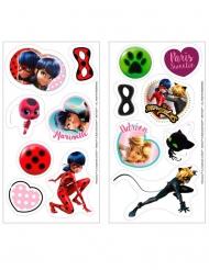 16 Discos mini de azúcar Ladybug™ 3,4 cm