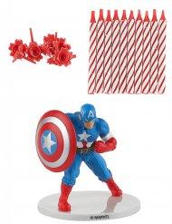 Kit bougie de cumpleaños Capitán América™
