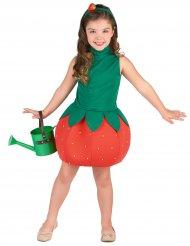 Disfraz vestido fresa niña