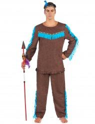 Disfraz indio marrón hombre