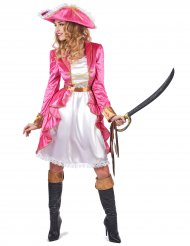 Disfraz pirata barroco rosa mujer