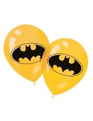 6 Globos látex amarillo Batman™
