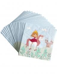 20 Servilletas de papel Princesse 33 x 33 cm
