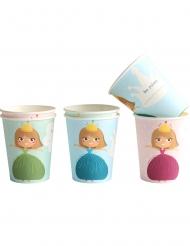 6 Vasos de cartón Princesa 25 cl