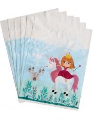 6 Bolsas de regalo princesa 15 x 23 cm