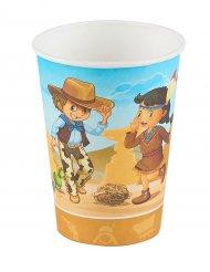 6 Vasos cowboy e indios 25 cl