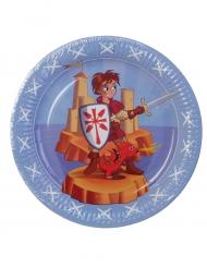 6 Platos medievales 23 cm