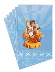 6 Bolsas para caramelos medieval 15 x 22.5 cm
