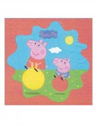 20 Servilletas de papel Peppa Pig™ 33 x 33 cm