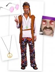 Pack disfraz hippie hombre