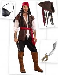 Kit Disfraz pirata hombre