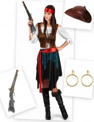 Pack disfraz pirata mujer