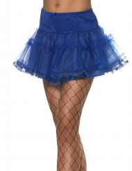 Falda azul rey mujer