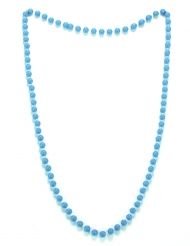 Collar perlas azules adulto