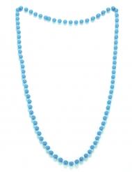 Collar perlas azules adulto