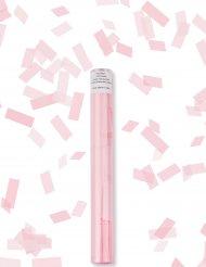 Cañón confetis rectángulo rosa