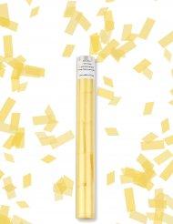 Cañon de confetis rectángulo amarillo
