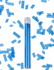 Cañón de confetis rectángulo azul turquesa